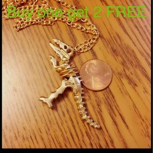 Jewelry - Dinosaur gold plated necklace